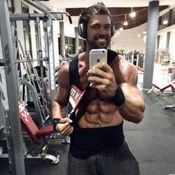 Rafa Martín entrenando en el gimnasio
