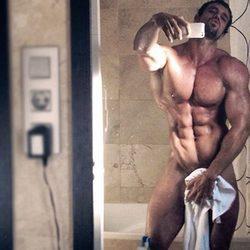 El selfie de Rafa Martín en el baño