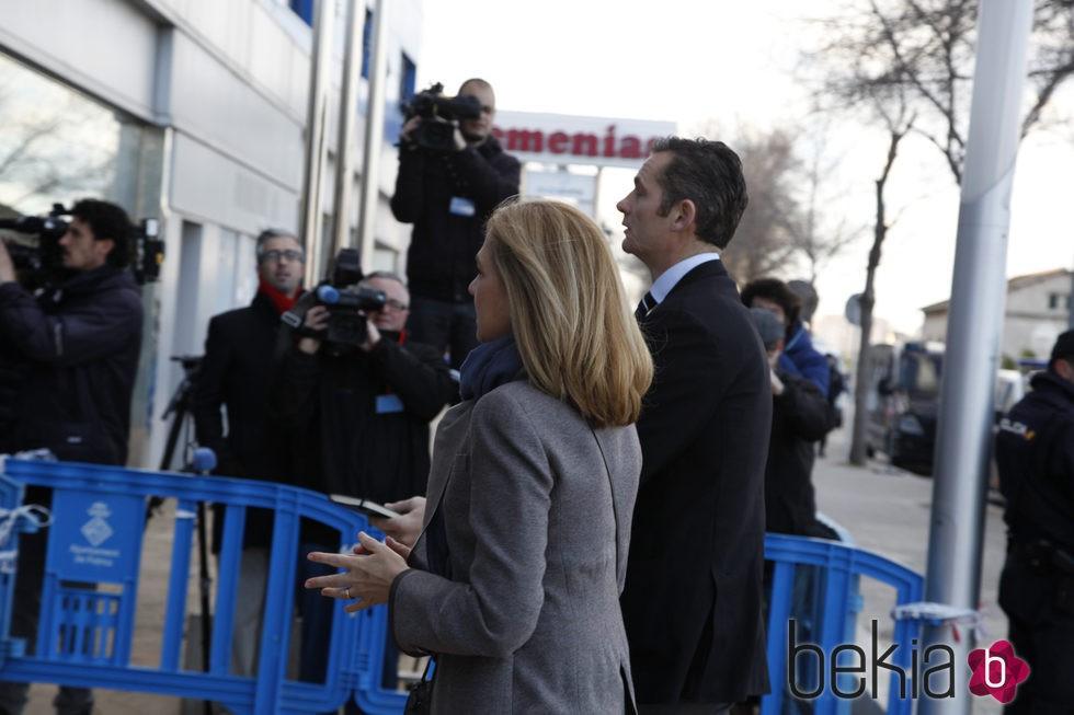 La Infanta Cristina e Iñaki Urdangarín en la séptima sesión del juicio por el Caso Nóos