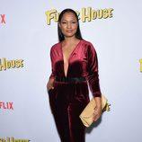 Garcelle Beauvais durante la presentación de 'Madres Forzosas' en Netflix