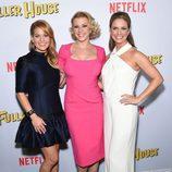 Candace Cameron Bure, Jodie Sweetin y Andrea Barber durante la presentación de 'Madres Forzosas' en Netflix