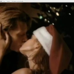 Cindy Crawford con Jon Bon Jovi en 'Please come home for Christmas'