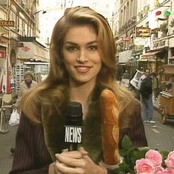 Cindy Crawford presentando 'House of style'