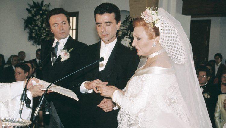 Rocío Jurado y José Ortega Cano el día de su boda