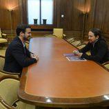 Alberto Garzón y Pablo Iglesias se reúnen para llegar a acuerdos de gobierno