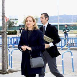 La Infanta Cristina e Iñaki Urdangarín en la octava sesión del juicio por el Caso Nóos