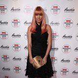 Amber Le Bon en la entrega de los Premios NME 2016 en Londres
