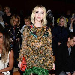 Emma Roberts en el desfile de Coach en Nueva York Fashion Week otoño/invierno 2016/2017