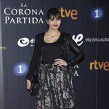 Sara Sálamo en el estreno de 'La Corona Partida'