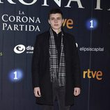 Aron Piper en el estreno de 'La Corona Partida'