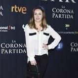 Claudia Molina en el estreno de 'La Corona Partida'