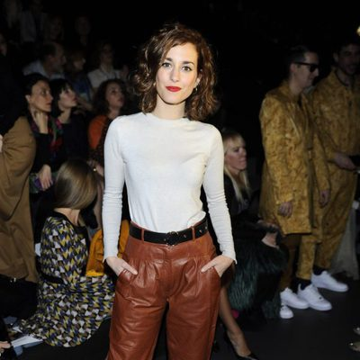 Silvia Alonso en el desfile de Ana Locking en Madrid Fashion Week otoño/invierno 2016/2017