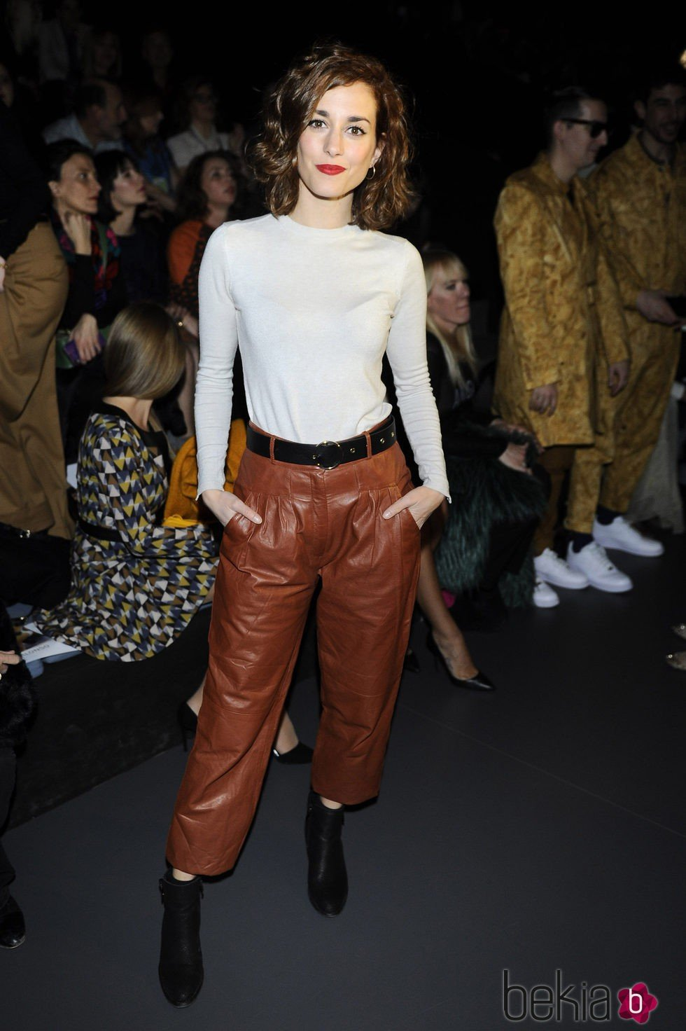 Silvia Alonso en el desfile de Ana Locking en Madrid Fashion Week otoño/invierno 2016/2017