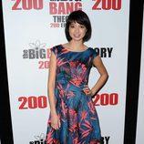 Kate Micucci en la fiesta de 'The Big Bang Theory' por sus 200 capítulos