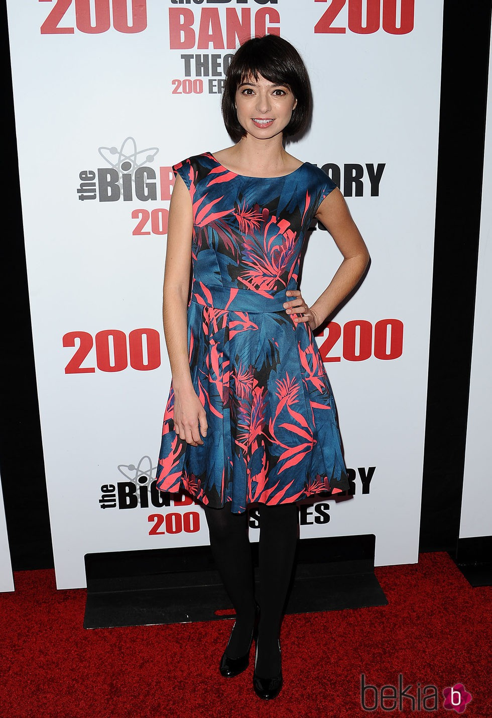 Kate Micucci en la fiesta de 'The Big Bang Theory' por sus 200 capítulos