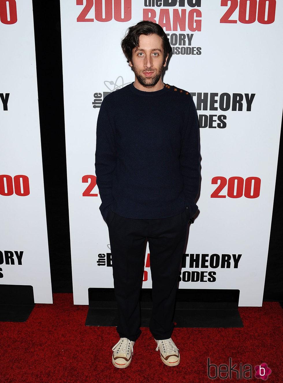 Simon Helberg en la fiesta de 'The Big Bang Theory' por sus 200 capítulos