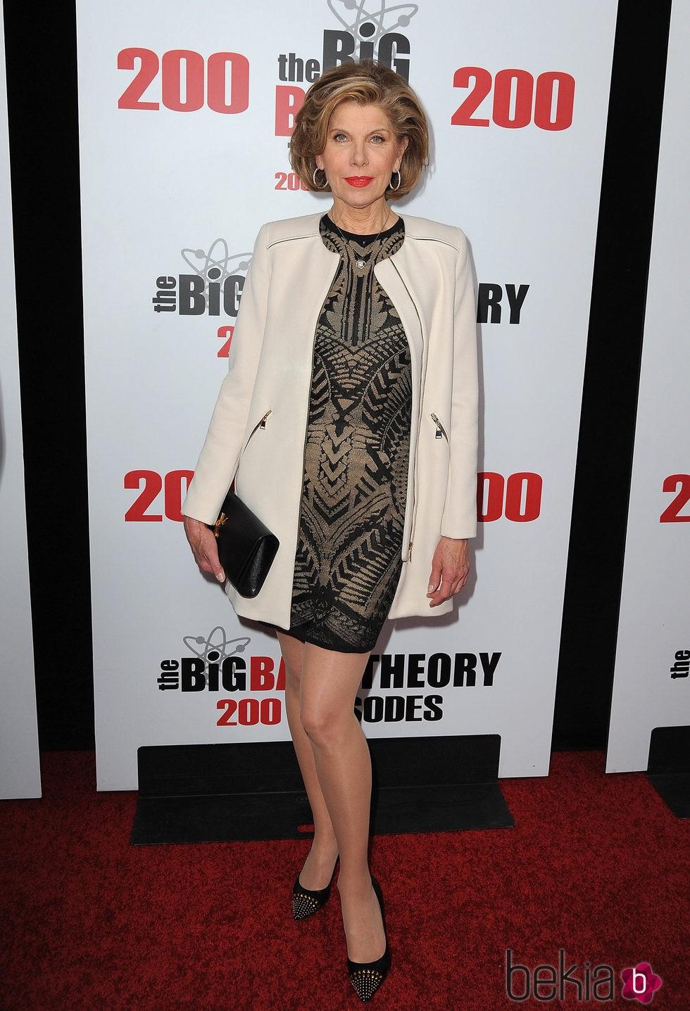 Christine Barnaski en la fiesta de 'The Big Bang Theory' por sus 200 capítulos
