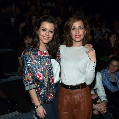 Silvia Alonso y Adriana Torrebejano en el desfile de Ana Locking en Madrid Fashion Week otoño/invierno 2016/2017