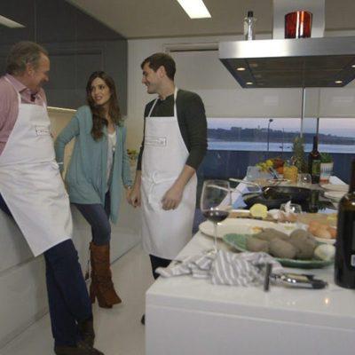 Iker Casillas y Sara Carbonero con Bertín Osborne en 'En la tuya o en la mía'
