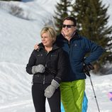 Constantino y Laurentien de Holanda posan en sus vacaciones de invierno en Austria