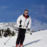 Guillermo Alejandro de Holanda esquiando en sus vacaciones de invierno en Austria