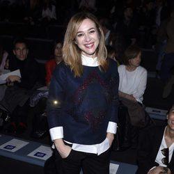 Marta Hazas en el desfile de Alvarno en Madrid Fashion Week otoño/invierno 2016/2017