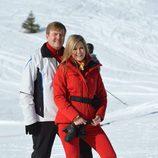 Guillermo Alejandro y Máxima de Holanda durante sus vacaciones de invierno en Austria