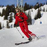 Máxima de Holanda esquiando en sus vacaciones de invierno en Austria