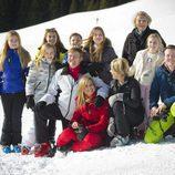 Posado de la Familia Real Holandesa en sus vacaciones de invierno en Austria