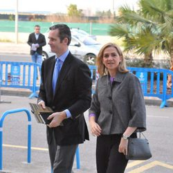 La Infanta Cristina e Iñaki Urdangarín llegan a la décima sesión del juicio por el Caso Nóos