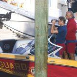 Zac Efron y Dwayne Johnson en el rodaje de 'Los vigilantes de la playa'