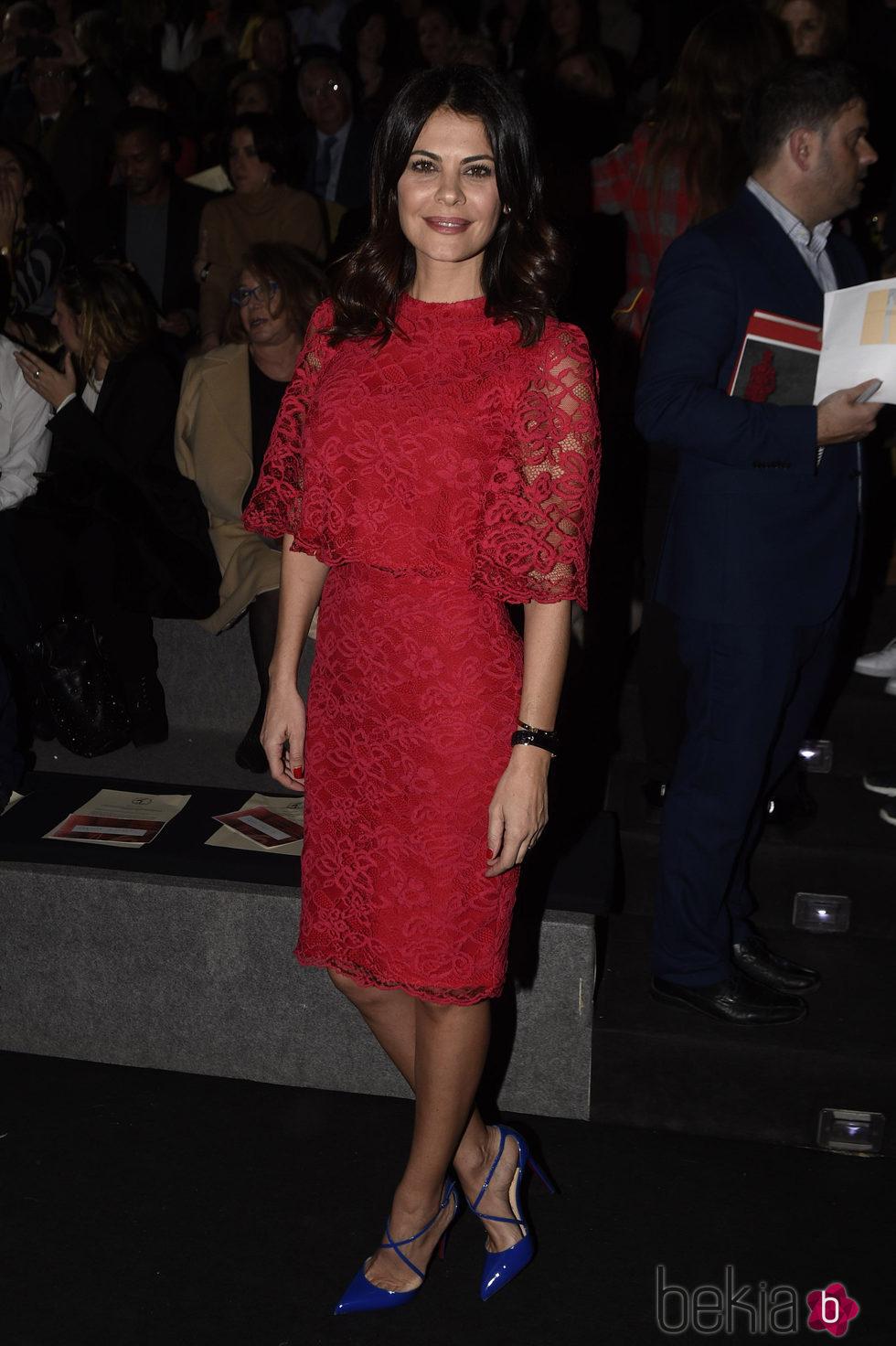 María José Suárez en la entrega del Premio L'Oreal en Madrid Fashion Week otoño/invierno 2016/2017