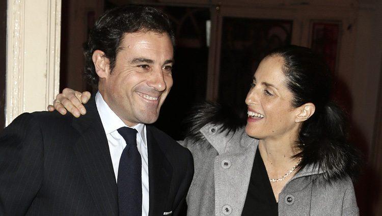 Carolina Adriana Herrera y El Litri en la fiesta de las joyerías Aguayo y Roberto Coin en la Madrid Fashion Week