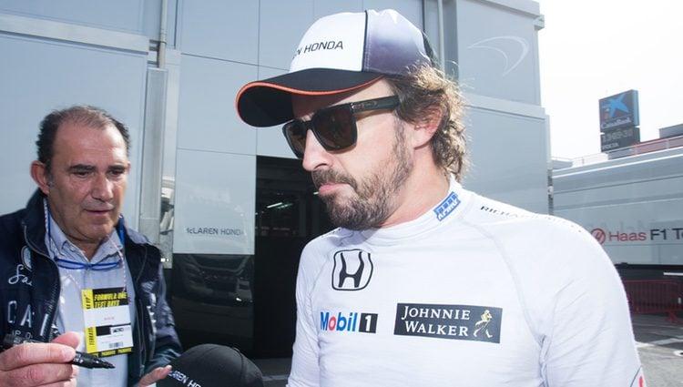 Fernando Alonso en Montmeló preparando el Mundial de Fórmula Uno 2016