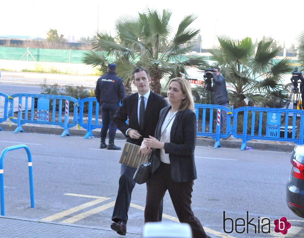 La Infanta Cristina e Iñaki Urdangarín en la undécima sesión del juicio por el Caso Nóos