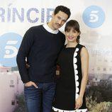 Hiba Abouk y Stanny Coppet en la presentación del final de 'El Príncipe'
