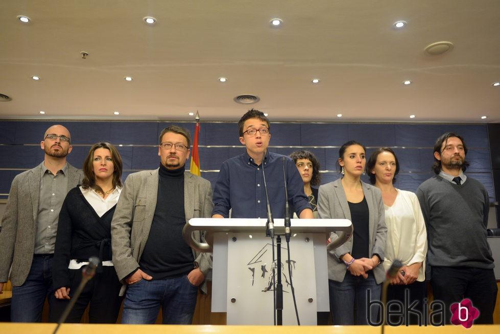 Iñigo Errejón anuncia la ruptura de las negociaciones con el PSOE para la investidura
