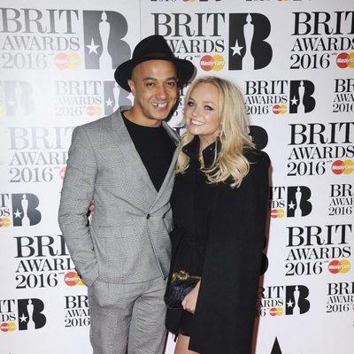 Emma Bunton y Jade Jones en la alfombra roja de los Premios Brit 2016