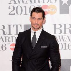 David Gandy en la alfombra roja de los Premios Brit 2016