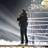 The Weeknd en su actuación en los Premios Brit 2016