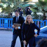 La Infanta Cristina e Iñaki Urdangarín en la decimosegunda sesión del juicio por el Caso Nóos