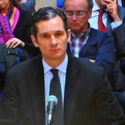 Iñaki Urdangarín en el primer día de su declaración en el juicio por el Caso Nóos