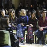 Adriana Ugarte y Jon Kortajarena en el desfile de RobertoCavalli en la Milan Fashion Week 2016