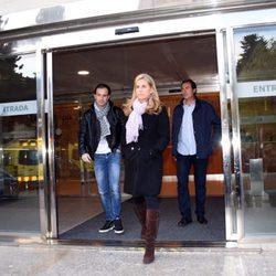 Arantxa Sánchez Vicario a la salida del tanatorio de Les Corts