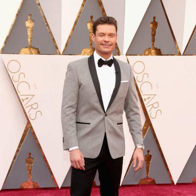 Ryan Seacrest en la alfombra roja de los Premios Oscar 2016