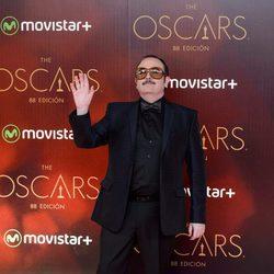 Carlos Areces en la fiesta de los Oscar 2016 en Madrid