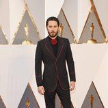 Jared Leto en la alfombra roja en los Premios Oscar 2016