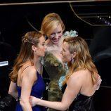 Brie Larson, Cate Blanchett y Kate Winslet en la gala de los Premios Oscar 2016