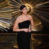 Sarah Silverman presentando a Sam Smith en la gala de los Premios Oscar 2016
