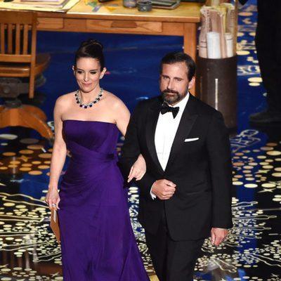 Tina Fey y Steve Carell en la gala de los Premios Oscar 2016